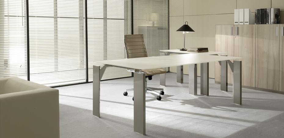 Mesas escrit rio moderna x19 por brunoffice for Mesas escritorio modernas