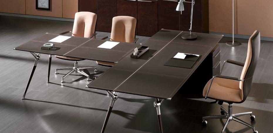 Mesas escrit rio moderna genesis por codutti design for Mesa escritorio moderna