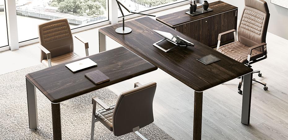 Mesas escrit rio moderna iulio por las mobili si design for Mesas escritorio modernas