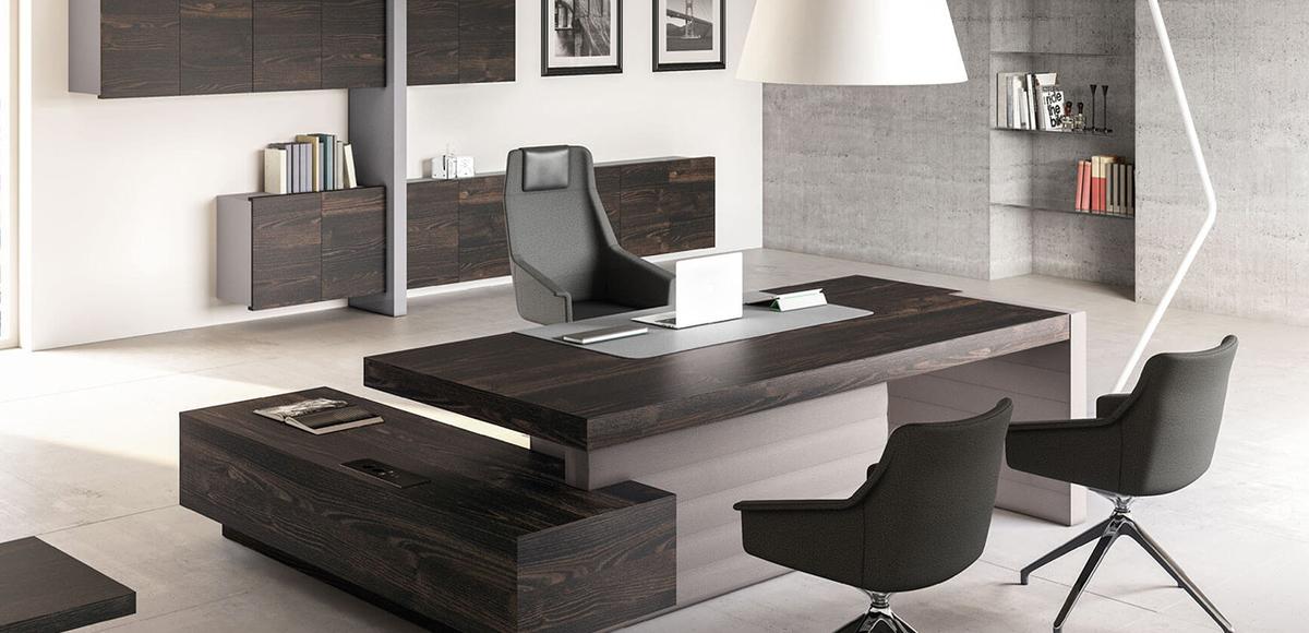 Mesas escrit rio moderna jera por las mobili design orlandini for Mobili studio moderno
