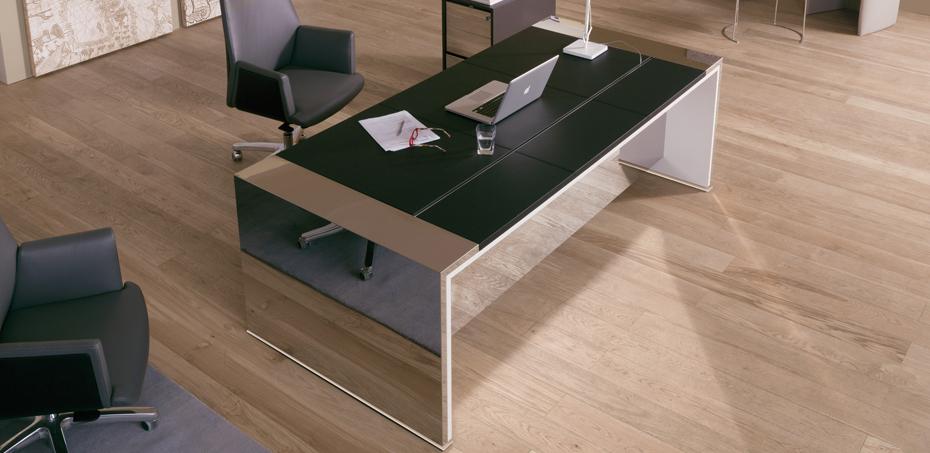 Mesas escrit rio moderna loop por estel for Mesas escritorio modernas